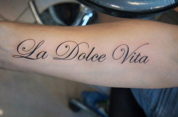 Фото надписи для тату на итальянском с переводом