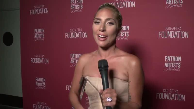 Леди Гага поздравляет с 25-летием премию от Гильдии киноактеров США декабрь 2018