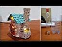 DIY Bakery fairy house lamp using plastic bottles