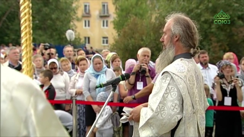 Божественная литургия 19 августа 2018 г в г Котлас Богослужение возглавил Патриарх Московский и всея Руси Кирилл