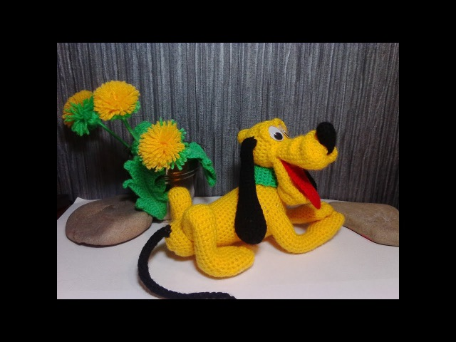 Веселый пес Плуто! ч.4. Cheerful dog Pluto! р.4. Amigurumi. Crochet. Игрушки крючком.