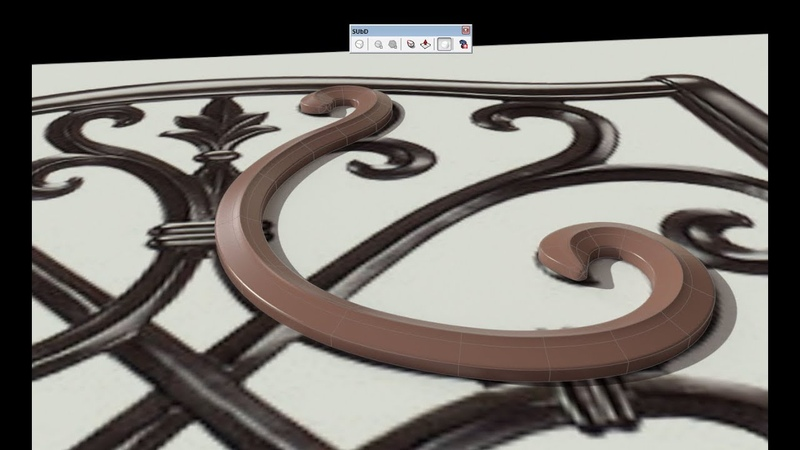 Sketchup SubD Ornamental Chair Modeling pt 1