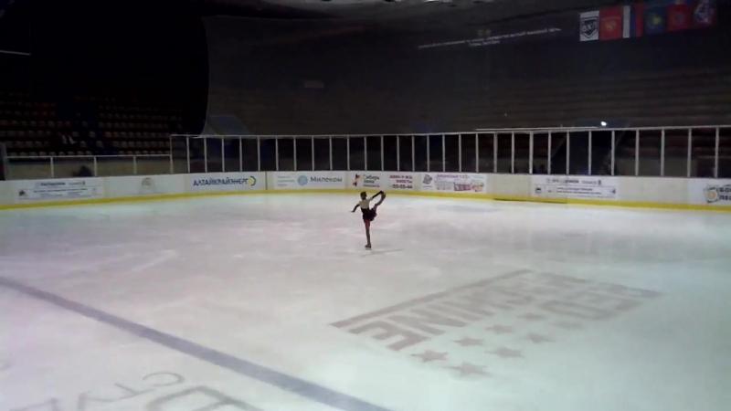 Звягина Анастасия, юный фигурист, март 2018, КФК Сибирский лед