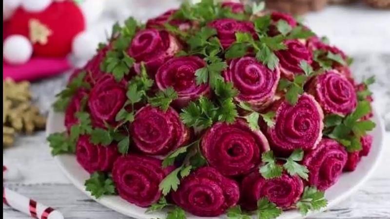 Салат который затмит любое блюдо на столе Приготовьте Букет роз пусть у всех челюсть отвиснет