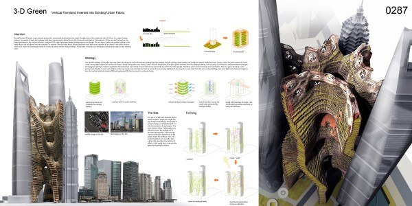 3D Green: Vertical Farmland Inserted in an