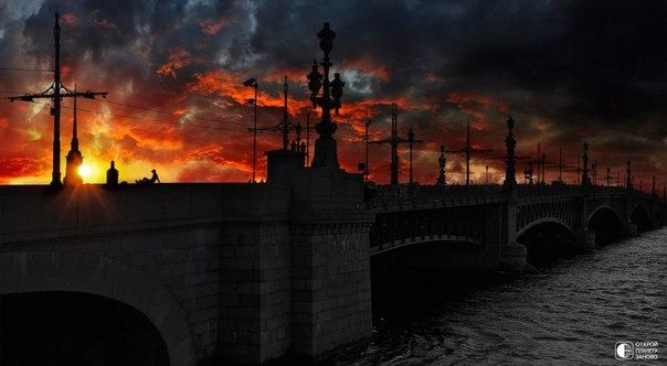 Красивый закат в санкт - Петербурге...В городе - сказке!