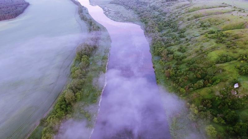 Рассвет над рекой Дон Село Нижнее Казачье Липецкой области