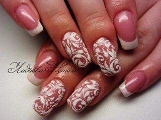Бархатный дизайн ногтей фото