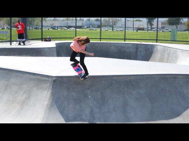 Blog Cam 52 - Barbie and Teresa skate Chino Skatepark