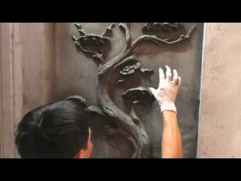Beautiful Art Rendering Sand And Cement On Wall Concrete - Amazing House Contruction