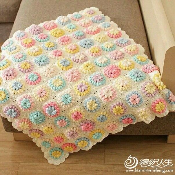 Delicadezas en crochet Gabriela: Hermosa manta floral tanto para ...
