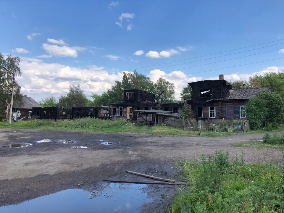 Трагедия в Осташкове. Полностью сгорела улица
