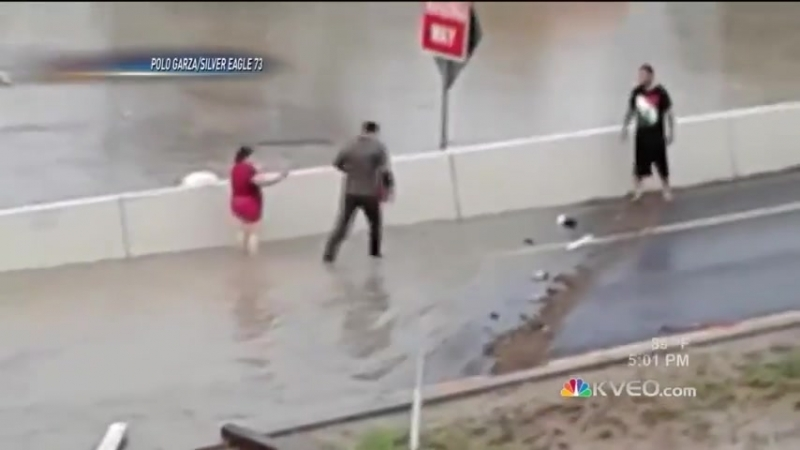 Texas DPS Trooper Save Woman From Flood