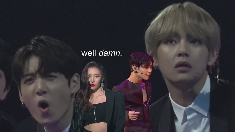 Sunmi taemins collab stage except bts is reacting to them