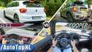 VW Polo GTI 2019 vs 2019 MINI Cooper S ACCELERATION TOP SPEED AUTOBAHN POV by AutoTopNL