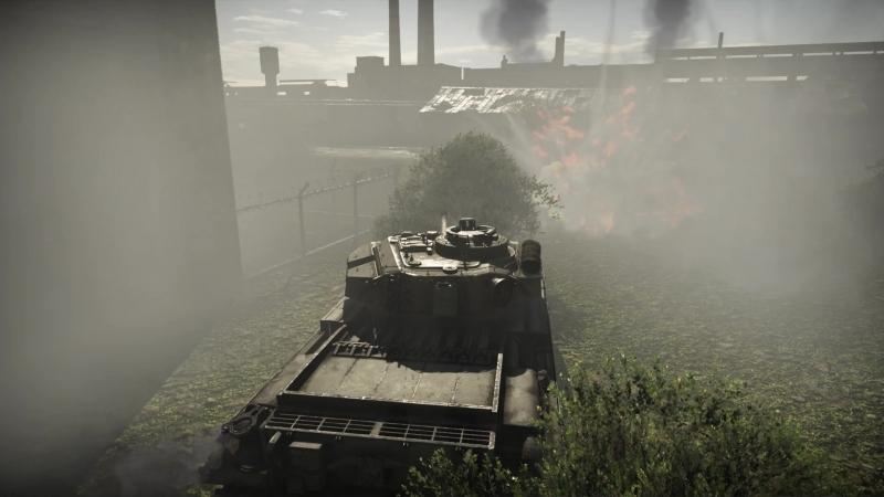 Использование дымовых гранат на танке Centurion Mk 3