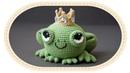 Царевна лягушка амигуруми крючком. Crochet frog amigurumi.