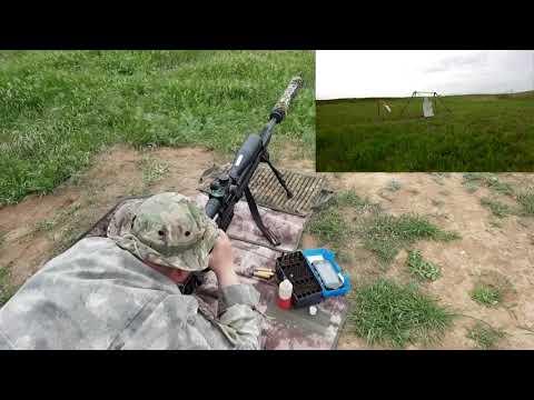Стрельба на 850 метров ОРСИС Т5000 338LM по гонгу, ветер 2-11 М/С.