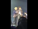 Taehyung shaking jeongguk's jacket the way jeongguk always shakes his shirt at the beginni