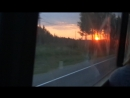 Вечерний закат, в медвежьегорском, районе.