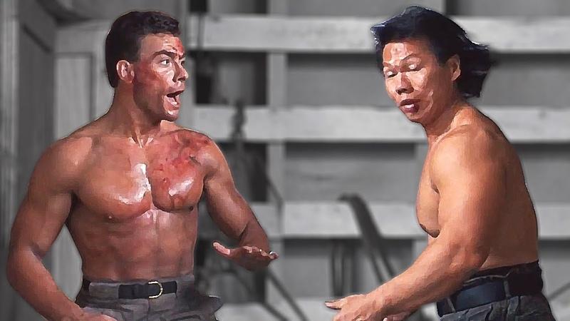 Жан-Клод Ван Дамм (Алекс) против Боло Йена (Луна)   J-C Van Damme (Alex) vs Bolo Yeung (Moon)