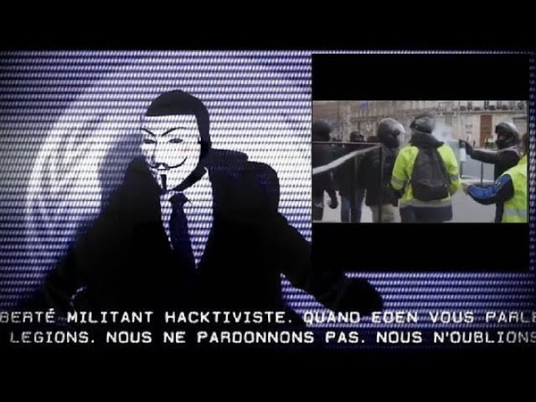 ⚠️Eden Anonymous - Gilets jaunes de quelle violence parlons nous, Monsieur le Président ?! 2019 ⚠️