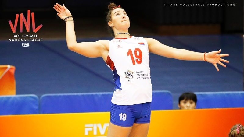 TOP 10 Crazy Volleyball Actions by Bojana Milenkovic | Women's VNL 2018