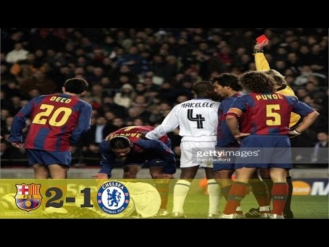 Barcelona vs Chelsea 2 1 All Goal Highlights UCL 23 02 2005 HD