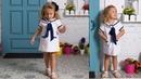 Vestido trapecio marinero REVISTA PATRONES INFANTILES Nº 9