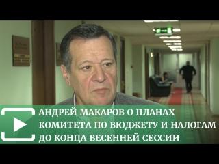 Андрей Макаров о планах комитета по бюджету и налогам до конца весенней сессии