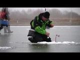 Вываживание лещей на ЧМ 2014 по ловле со льда мормышкой