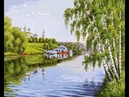 Живопись на холсте На высоком берегу Painting on canvas On the high land 40 х 50 см