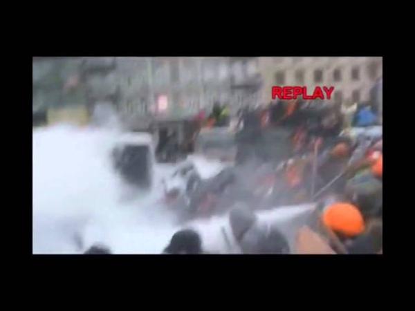 Кличко. Огнетушитель. Майдан. 19,01,2014.