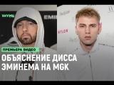 Объяснение дисса Эминема на MGK. Русский язык (Flowmastaz) [Рифмы и Панчи]