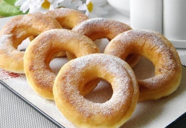 Вкусные пончики на кефире всего за 15 минут