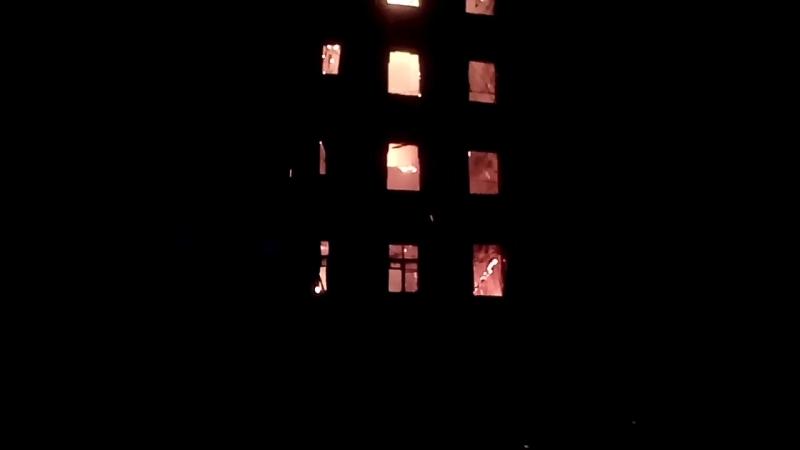 Пожар в расселенном доме в Заводском районе