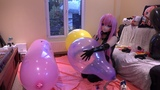 Playing with a homemade balloon