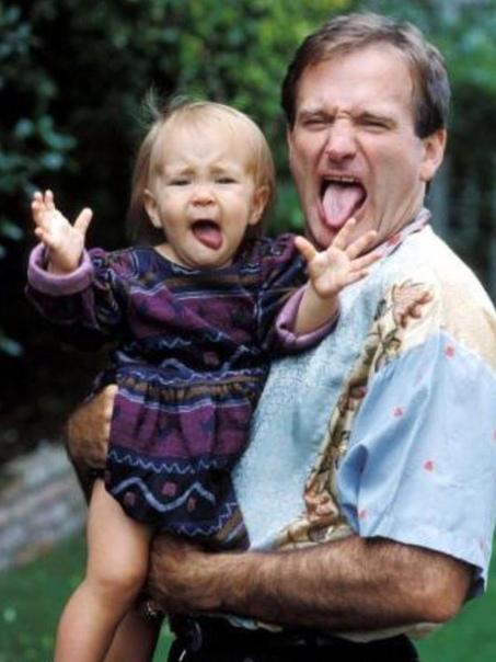 На фото: Актёр Робин Уильямс с дочкой Зельдой.