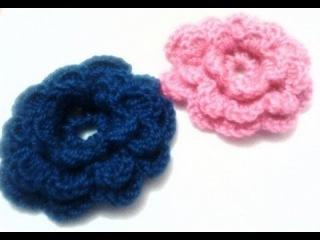 Цветок крючком модель 2