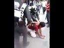 Thai Police Using Sasumata Man catcher in Maha Sarakham Thailand