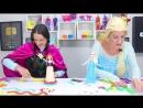 Frozen Elsa Spiderman! SCHOOL MORNING ROUTINE ❤ Spiderman and Frozen Elsa Cart