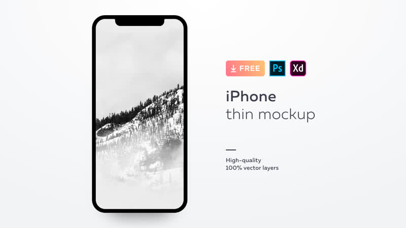 Free mockup for iPhone X and XS