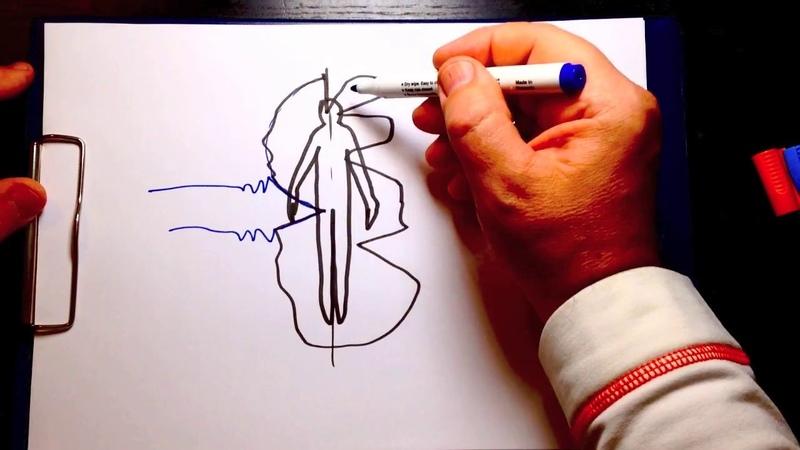 Медитативный рисунок Урок 16 Динамика энергетических поражений во времени