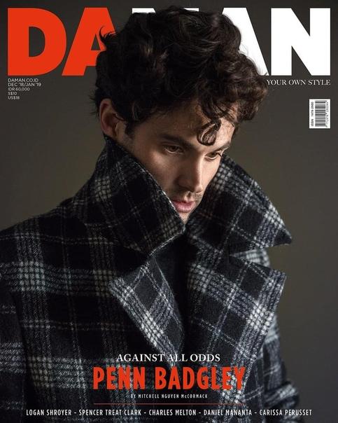 Penn Badgley DAMAN Magazine, December 2018/January 2019.