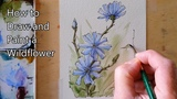 How to draw and paint a Flower, Wildflowers in Watercolor Line and Wash. Peter Sheeler