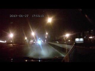 Вдеорегистратор GAZER F410 тест-ночь