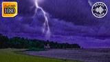 Шум Дождя, Гром и Звуки Ветра Для Сна и Релакса. Темный Экран 10 Часов