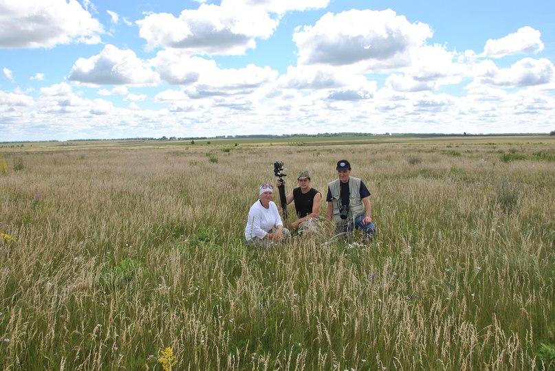 Здесь с помощью ученых восстанавливается степной облик ландшафта Куликова поля. Слева – руководитель работ Бурова Ольга Валентиновна