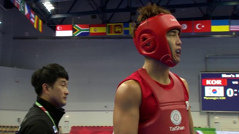 14th WWC - Men's Sanda 80kg Final - Myeongjin KIM (KOR) vs Arslan BEKTEMIROV (RUS)