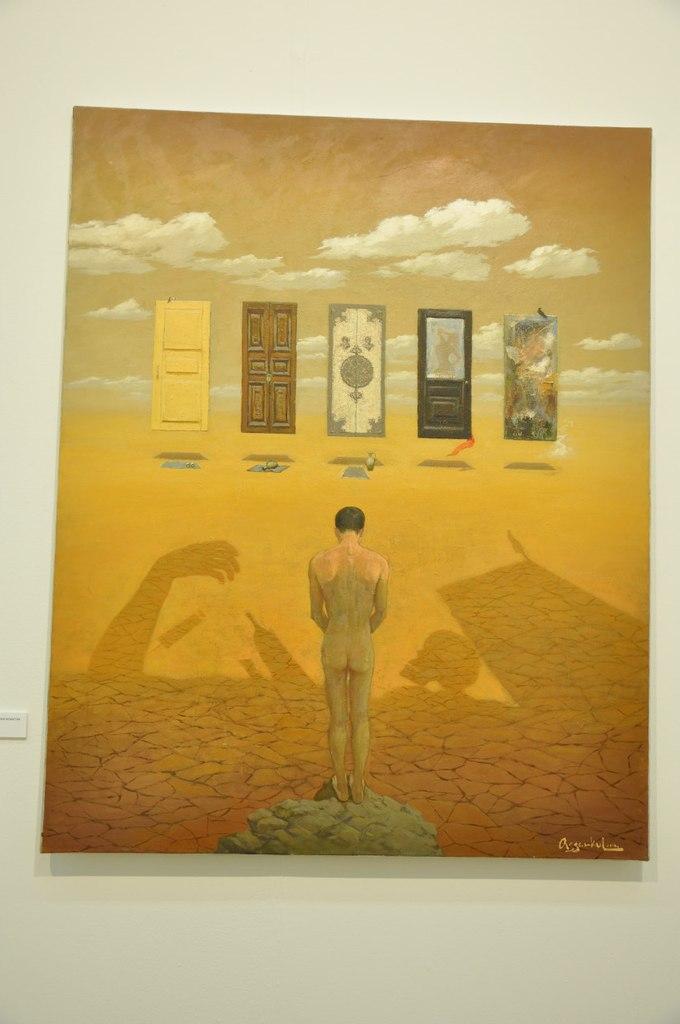 Союз художников Республики Казахстан  Бейбит Асемкул (р. 1985)  Задумайся. 2012  Холст, масло